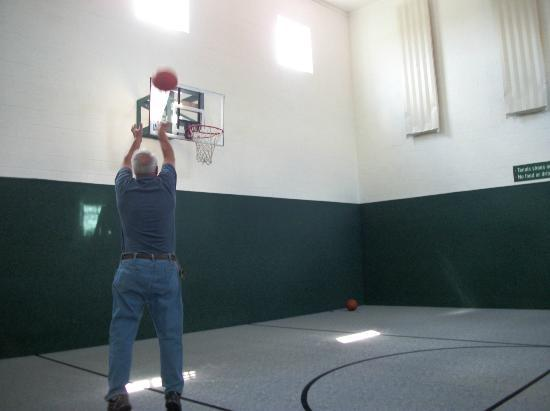 Farmstead Inn: My husband playing basketball