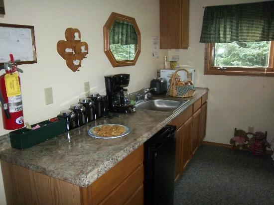 Bear's Den B&B and Lodging: Mini-Kitchen with welcome cookies!