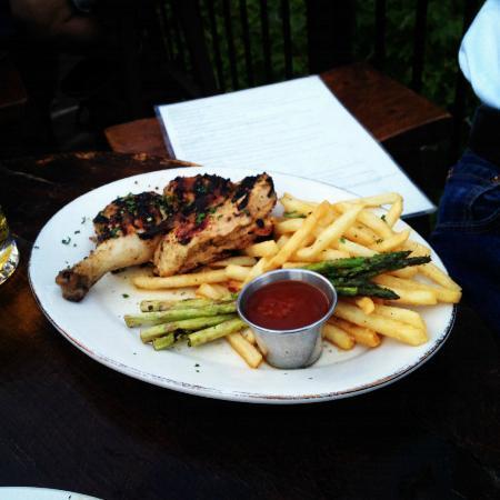 Biergartenhaus : Grilled Farm Raised Organic Chicken in Garlic and Lemon