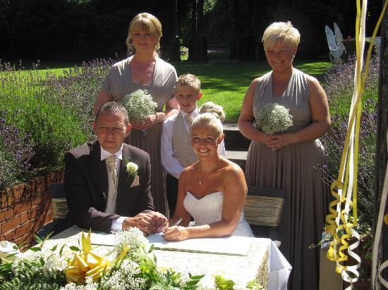 The Alexandra Court Hotel: After signing the wedding register.