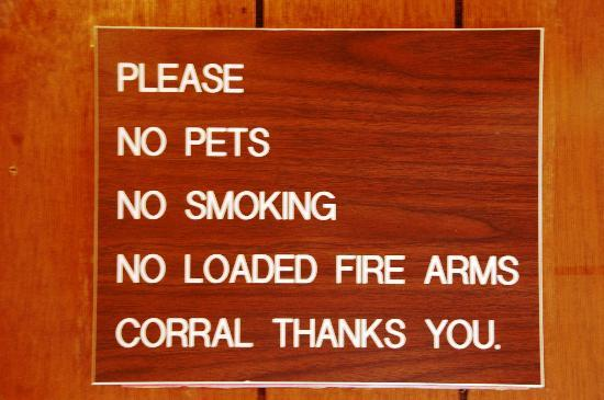 Corral Motel: on our room wall