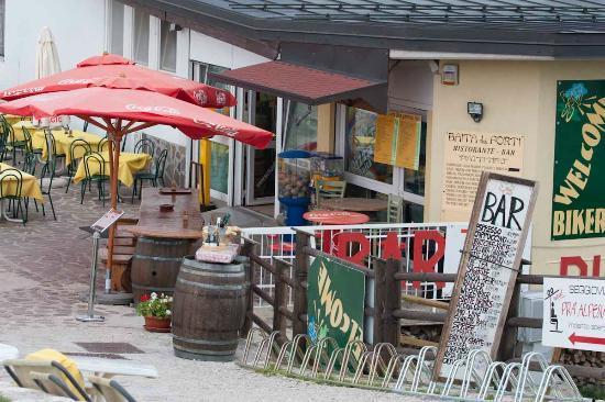 Baita dei Forti: Outside of the restaurant