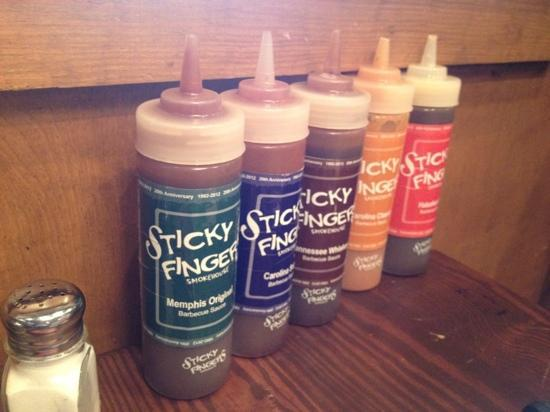 Sticky Fingers: put your own sauce on it