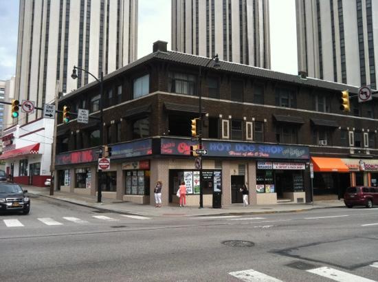 outside picture of essie 39 s original hot dog shop pittsburgh tripadvisor. Black Bedroom Furniture Sets. Home Design Ideas
