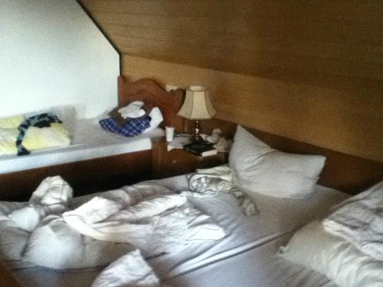Hotel Sonnenmatte: Beds were OK, apart from a cheap one, which always kept breaking, when my roommate sat normally!