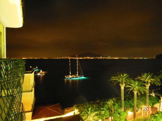 View from baclony of Hotel Continental Sorrento Italy