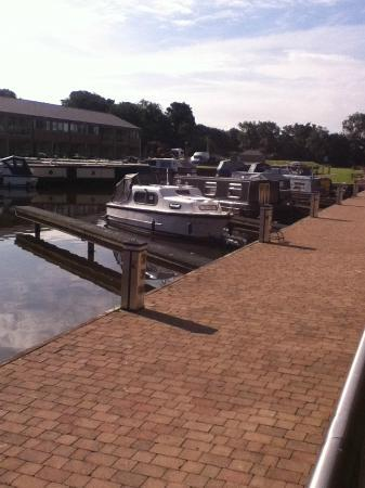Tewitfield Marina: View from balcony