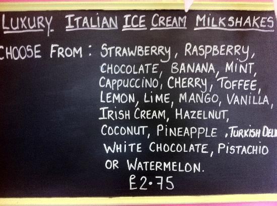 The Pokey Hat: Milkshake Flavours.
