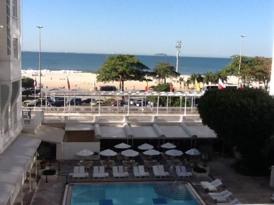 Belmond Copacabana Palace: A view from the room over the pool