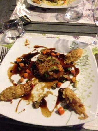 Hotel-restaurant Les Jardins de Brantome : anchaud de porc