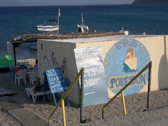 Vista da ristorante sul mare foto di kamari beach kos for Kos milano ristorante