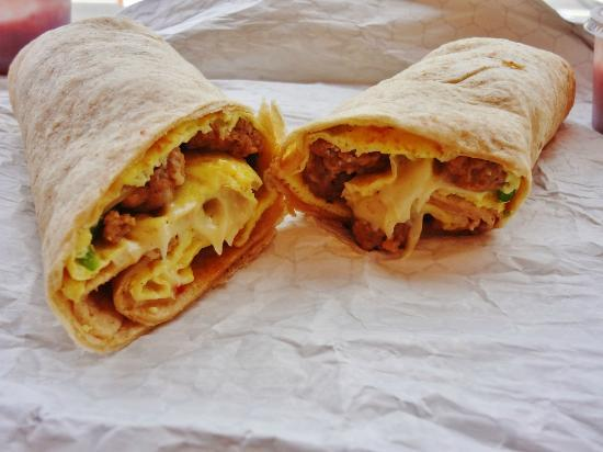 Sharky's Grill&BBQ: Massive Breakfast burrito