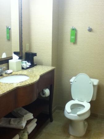 Hampton Inn & Suites Plymouth: clean bathroom