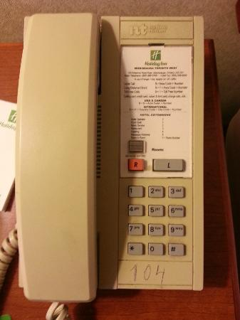Holiday Inn Mississauga Toronto West: Phone in Room
