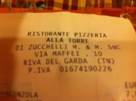 Ristorante Pizzeria Alla Torre: avoid like the plague
