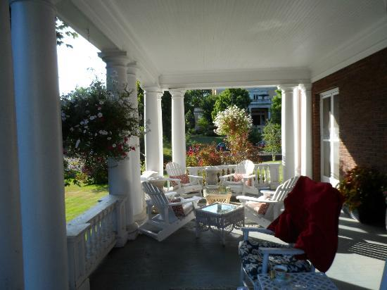 Olcott House Bed and Breakfast Inn: An inviting place to sit.  The porch.