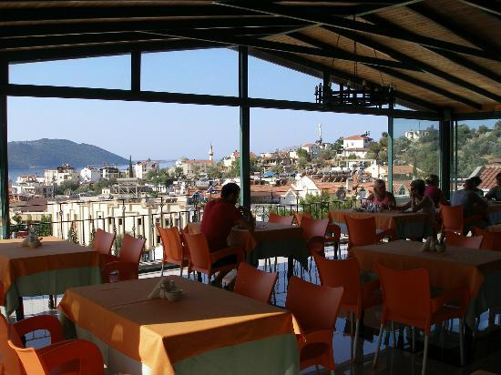 Hotel Kekova: View of Kas from fourth floor dining terrace