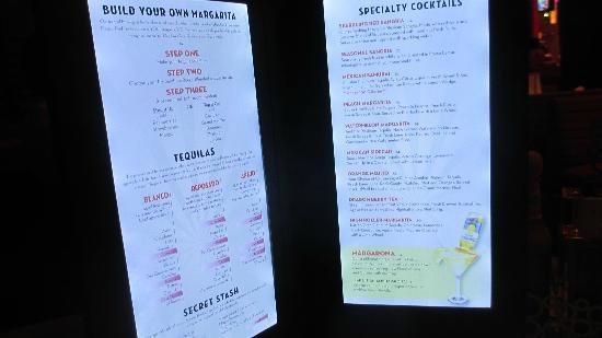 Yolos - Planet Hollywood Las Vegas: illuminated drink menus