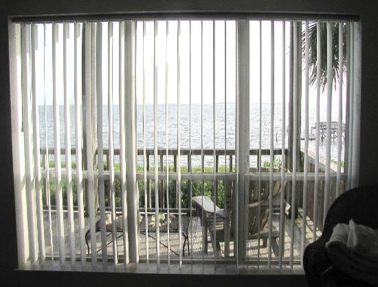 ‪‪Seahorse Landing‬: View of Gulf from Living Room Window & Deck