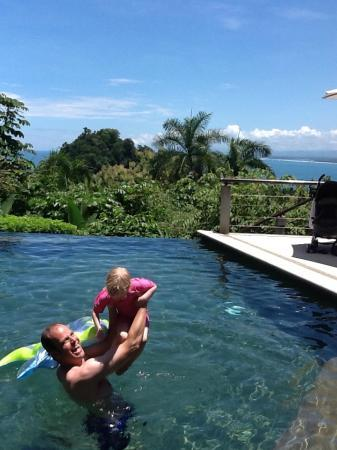 Tulemar Bungalows & Villas: enjoying the family pool, view of ocean