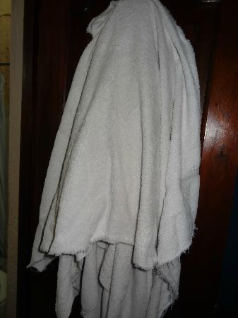 Posada Los Bucaros: Threadbare scary towel