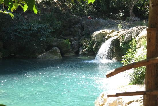 Bolinao Falls 1: enjoying the place