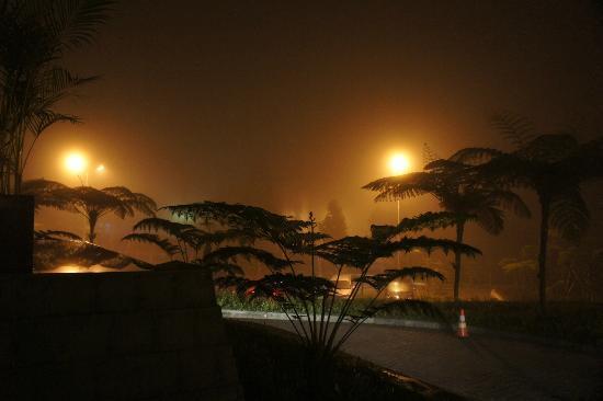 Mikie Holiday Resort: Malam hari dengan kabut tebal