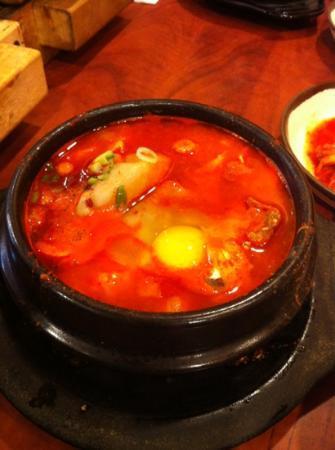 Buk Chang Dong Soon To Fu: dumpling and beef soup