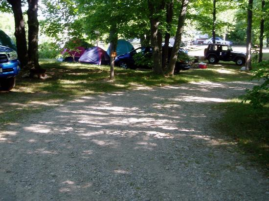 Tobermory Village Campground: large, shaded sites
