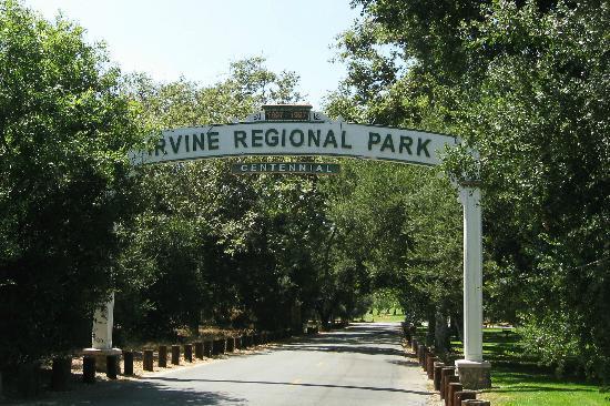 Irvine Regional Park: Irvine Park Centennial Sign