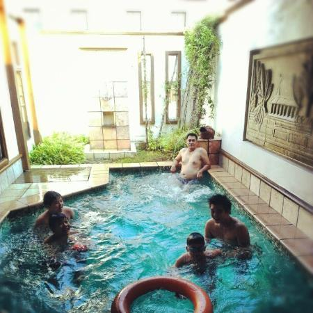 My dad and the cousins enjoying their pool time picture for Garden pool grand lexis