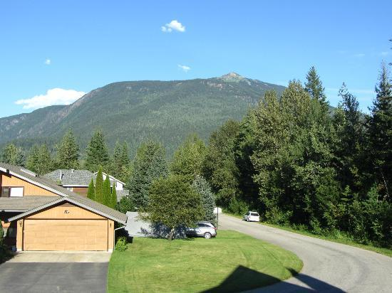 Powder Pillow Bed & Breakfast: View from Deck, Revelstoke Ski Mountain in Distance