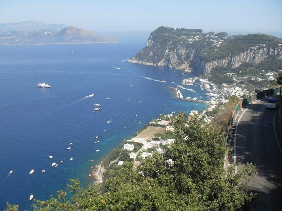Hotel San Michele: vista di Capri da San Michele