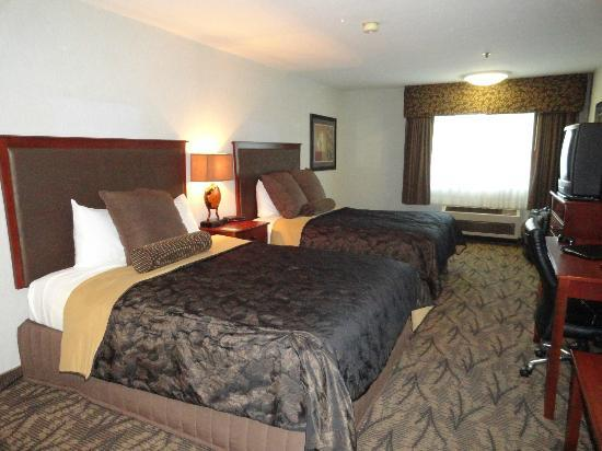 Shilo Inn Suites - Newberg: dark decor