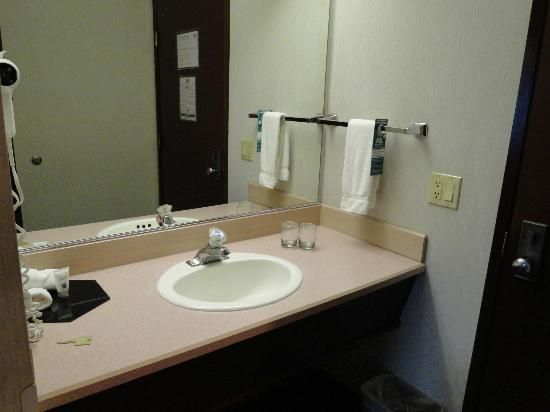 Shilo Inn Suites - Newberg: sink is separate from toilet