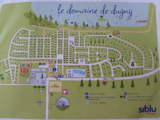 Onzain, France : Plan du camping