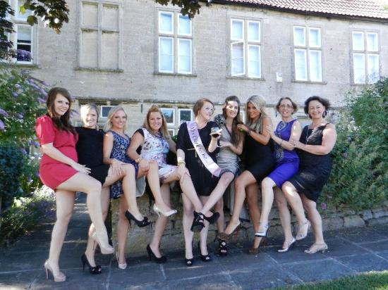 At The Manor: Girls enjoying the manor house!