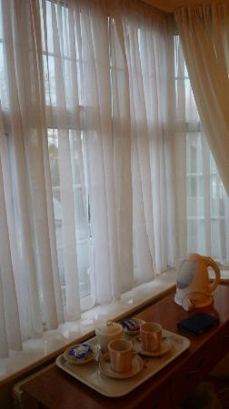 The Ridings Guest House: Luckily there are thick curtains as well as shear ones