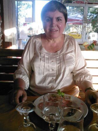 Hotel Les Chamois : Ma soeur et l'entrée