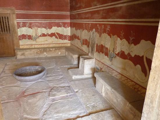 The Palace of Knossos: La sala del trono