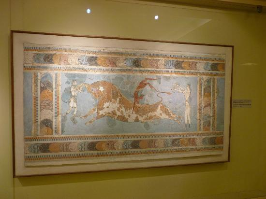 The Palace of Knossos: Originale dell affresco conservato al museo di Heraklion