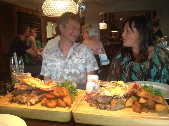 The Swan at Chapel Down: Amazing Surf n Turf!