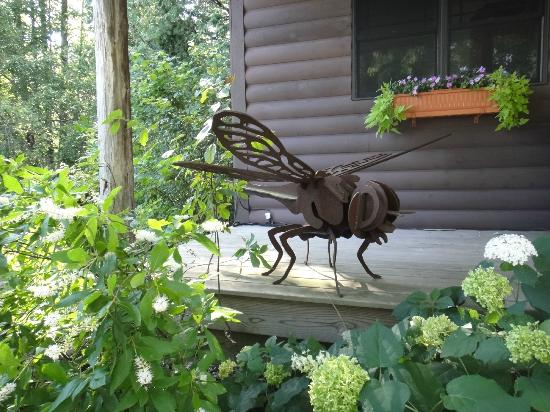Whispering Waters: Dragonfly scuplture
