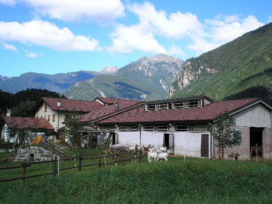 Aqua Fracta: L'Agriturismo dalla strada che proviene da St. Moritz