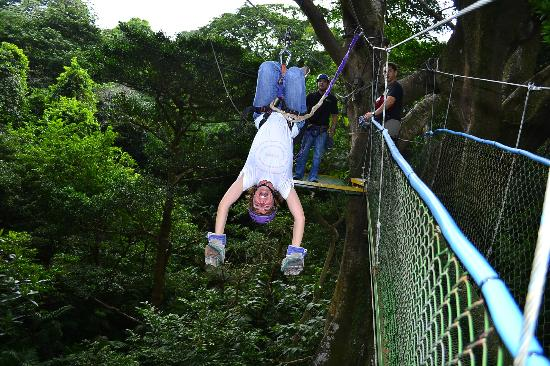 Buena Vista Lodge&Adventure: Ziplining, no you don't have to go upside down  :)