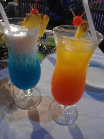 Anchorage Beach Resort: two of the yummy cocktails