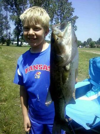 Michigan City Campground: Fish caught in the pond