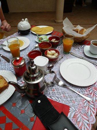 Riad Badi: Breakfast