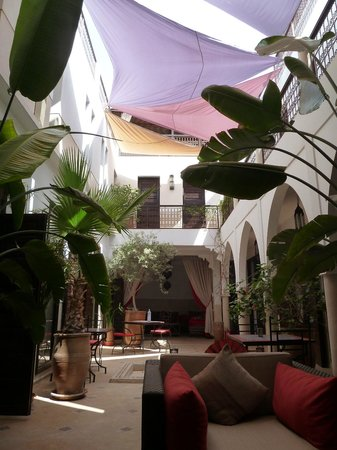 Riad Badi : The courtyard