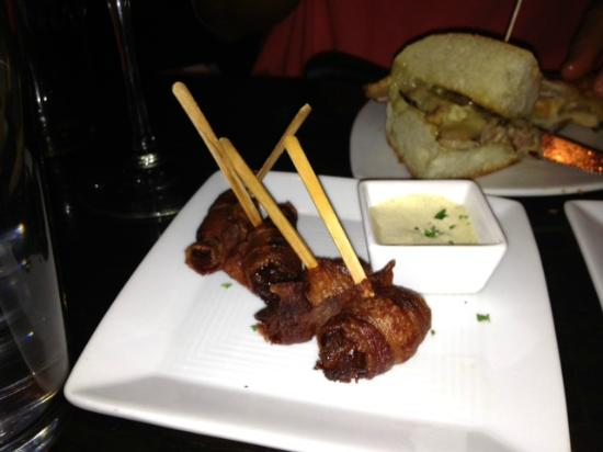 Over The Tapas: Bacon wrapped dates. Perfect!